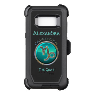Capa OtterBox Defender Para Samsung Galaxy S8 Capricórnio - o sinal do horóscopo da cabra