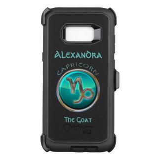 Capa OtterBox Defender Para Samsung Galaxy S8+ Capricórnio - o sinal do horóscopo da cabra