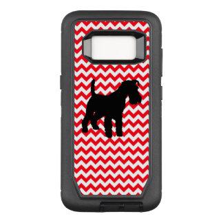 Capa OtterBox Defender Para Samsung Galaxy S8 Carro de bombeiros Chevron vermelho com Schnauzer