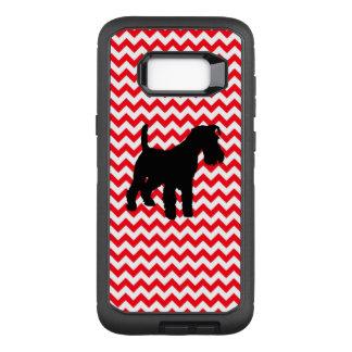 Capa OtterBox Defender Para Samsung Galaxy S8+ Carro de bombeiros Chevron vermelho com Schnauzer