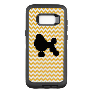 Capa OtterBox Defender Para Samsung Galaxy S8+ Chevron alaranjado Pastel com silhueta da caniche