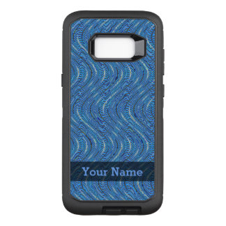 Capa OtterBox Defender Para Samsung Galaxy S8+ Círculos e ondas azuis