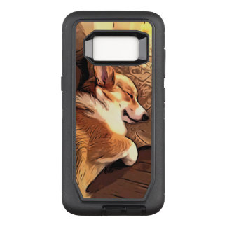 Capa OtterBox Defender Para Samsung Galaxy S8 Corgi do sono Galês