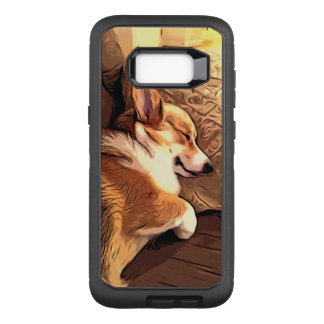 Capa OtterBox Defender Para Samsung Galaxy S8+ Corgi do sono Galês