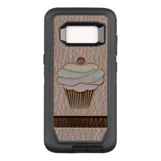 Capa OtterBox Defender Para Samsung Galaxy S8 Couro-Olhar que coze brandamente