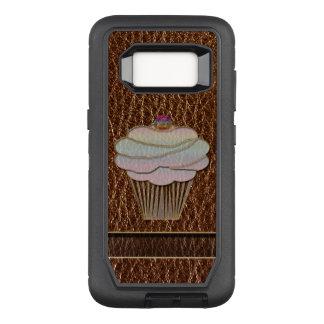 Capa OtterBox Defender Para Samsung Galaxy S8 Cozimento do Couro-Olhar