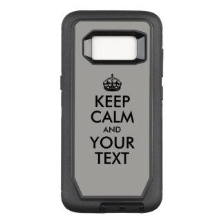 Capa OtterBox Defender Para Samsung Galaxy S8 Criar seu próprio preto mantêm a calma e o seu