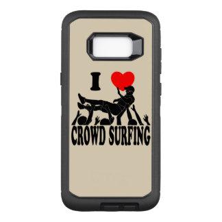 Capa OtterBox Defender Para Samsung Galaxy S8+ Eu amo a multidão que surfa (homem) (o preto)