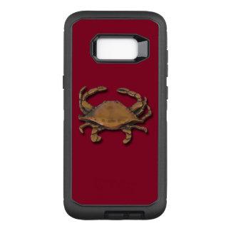 Capa OtterBox Defender Para Samsung Galaxy S8+ Galáxia S8 mais o caranguejo de cobre em Borgonha