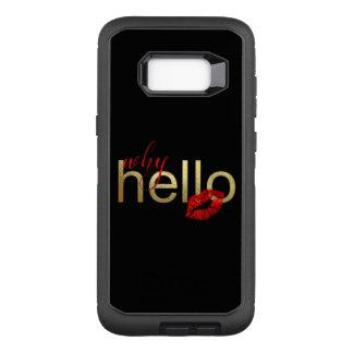 "Capa OtterBox Defender Para Samsung Galaxy S8+ Galáxia S ""porque olá!"" caixa da folha de ouro"