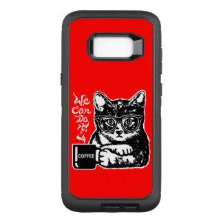 Capa OtterBox Defender Para Samsung Galaxy S8+ Gato engraçado motivado pelo café
