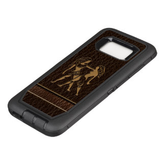 Capa OtterBox Defender Para Samsung Galaxy S8 Gêmeos do Couro-Olhar