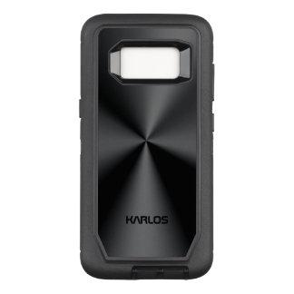 Capa OtterBox Defender Para Samsung Galaxy S8 Inoxidável metálico do preto brilhante do falso