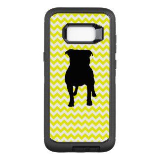 Capa OtterBox Defender Para Samsung Galaxy S8+ Limão - Chevron amarelo com silhueta do Pug