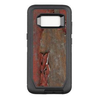 Capa OtterBox Defender Para Samsung Galaxy S8 Madeira vermelha do celeiro do vintage