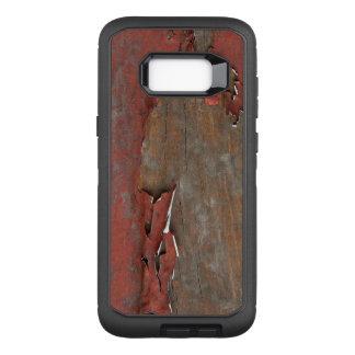 Capa OtterBox Defender Para Samsung Galaxy S8+ Madeira vermelha do celeiro do vintage