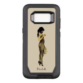 Capa OtterBox Defender Para Samsung Galaxy S8 Menina retro do vintage bonito com Apple