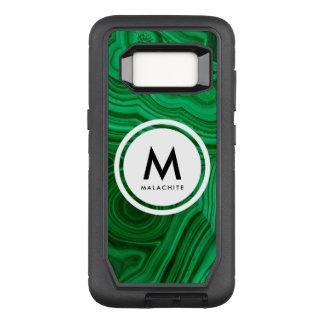 Capa OtterBox Defender Para Samsung Galaxy S8 Monograma de mineral da malaquite