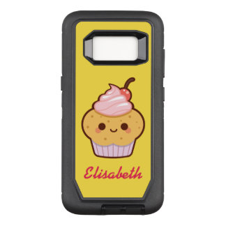 Capa OtterBox Defender Para Samsung Galaxy S8 Monograma doce do nome do cupcake do kawaii bonito