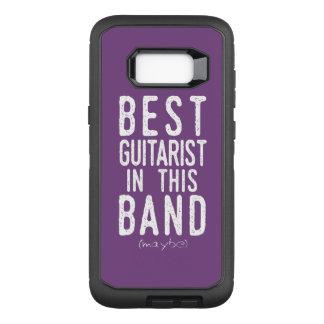 Capa OtterBox Defender Para Samsung Galaxy S8+ O melhor guitarrista (talvez) (branco)