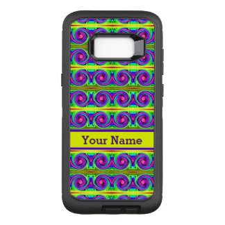 Capa OtterBox Defender Para Samsung Galaxy S8+ O roxo amarelo colorido brilhante ondula o teste