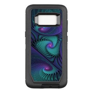 Capa OtterBox Defender Para Samsung Galaxy S8 O roxo encontra a arte abstrata moderna do Fractal