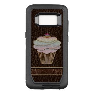 Capa OtterBox Defender Para Samsung Galaxy S8 Obscuridade de cozimento do Couro-Olhar