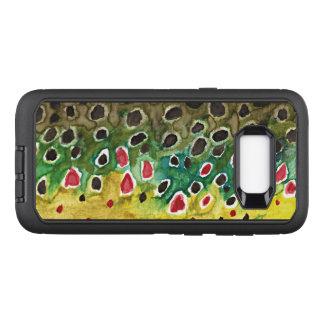 Capa OtterBox Defender Para Samsung Galaxy S8+ Pesca com mosca da truta de Brown, ictiologia