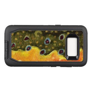 Capa OtterBox Defender Para Samsung Galaxy S8 Pescador da truta de ribeiro, Ichthyologist