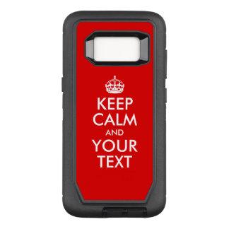 Capa OtterBox Defender Para Samsung Galaxy S8 Projete seu próprio branco mantêm a calma e o seu