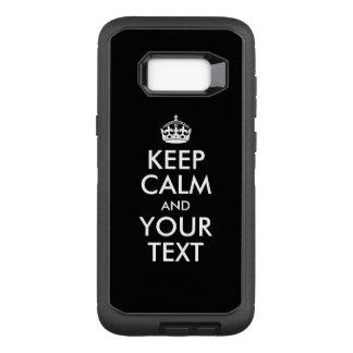 Capa OtterBox Defender Para Samsung Galaxy S8+ Projete seu próprio branco mantêm a calma e o seu