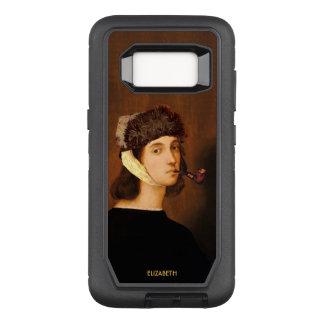 Capa OtterBox Defender Para Samsung Galaxy S8 Retrato de auto de Raphael com chapéu e tubulação