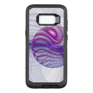 Capa OtterBox Defender Para Samsung Galaxy S8+ Rosa abstrato da arte do Fractal dos movimentos