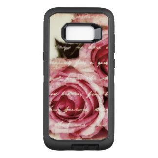 Capa OtterBox Defender Para Samsung Galaxy S8+ Rosas cor-de-rosa do vintage