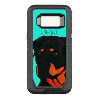 Capa OtterBox Defender Para Samsung Galaxy S8 Rottweiler customizável