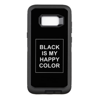 CAPA OtterBox DEFENDER PARA SAMSUNG GALAXY S8+ SKAM - BLACK IS MY HAPPY COLOR