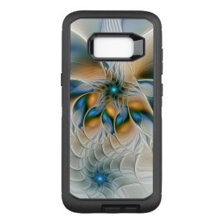 Capa OtterBox Defender Para Samsung Galaxy S8+ Subindo, abstraia a arte do Fractal da fantasia