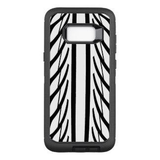 Capa OtterBox Defender Para Samsung Galaxy S8+ Teste padrão do abstrato da textura do pneu