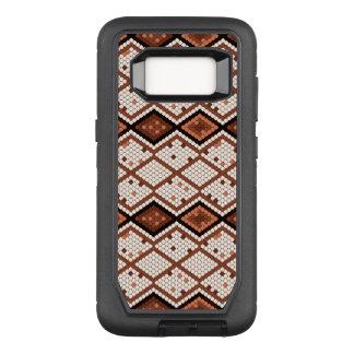 Capa OtterBox Defender Para Samsung Galaxy S8 Teste padrão geométrico de Brown & de cobra do