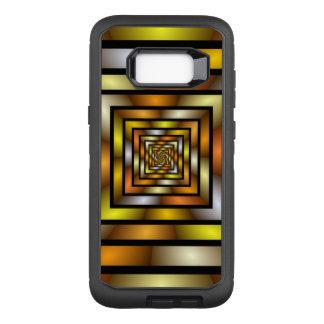 Capa OtterBox Defender Para Samsung Galaxy S8+ Teste padrão gráfico colorido do Fractal do túnel