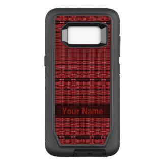 Capa OtterBox Defender Para Samsung Galaxy S8 Teste padrão moderno preto vermelho