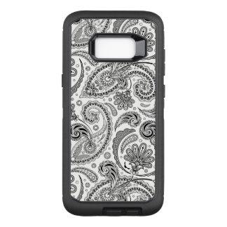 Capa OtterBox Defender Para Samsung Galaxy S8+ Teste padrão tribal preto & branco feminino de