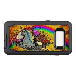 Capa OtterBox Defender Para Samsung Galaxy S8 Unicórnio, arco-íris & bacon impressionantes da