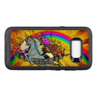 Capa OtterBox Defender Para Samsung Galaxy S8+ Unicórnio, arco-íris & bacon impressionantes da