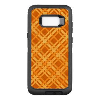 Capa OtterBox Defender Para Samsung Galaxy S8+ Xadrez amarela e alaranjada fresca