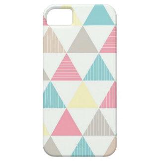 Capa para celular com figura geométrica colorida.