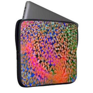 Capa Para Computador A bolsa de laptop colorida das flores