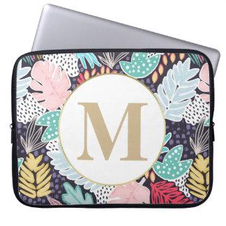 Capa Para Computador A bolsa de laptop colorida tropical do teste
