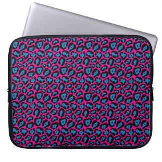 Capa Para Computador A bolsa de laptop cor-de-rosa & azul chique do