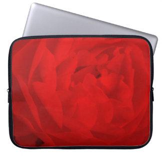Capa Para Computador A bolsa de laptop da rosa vermelha